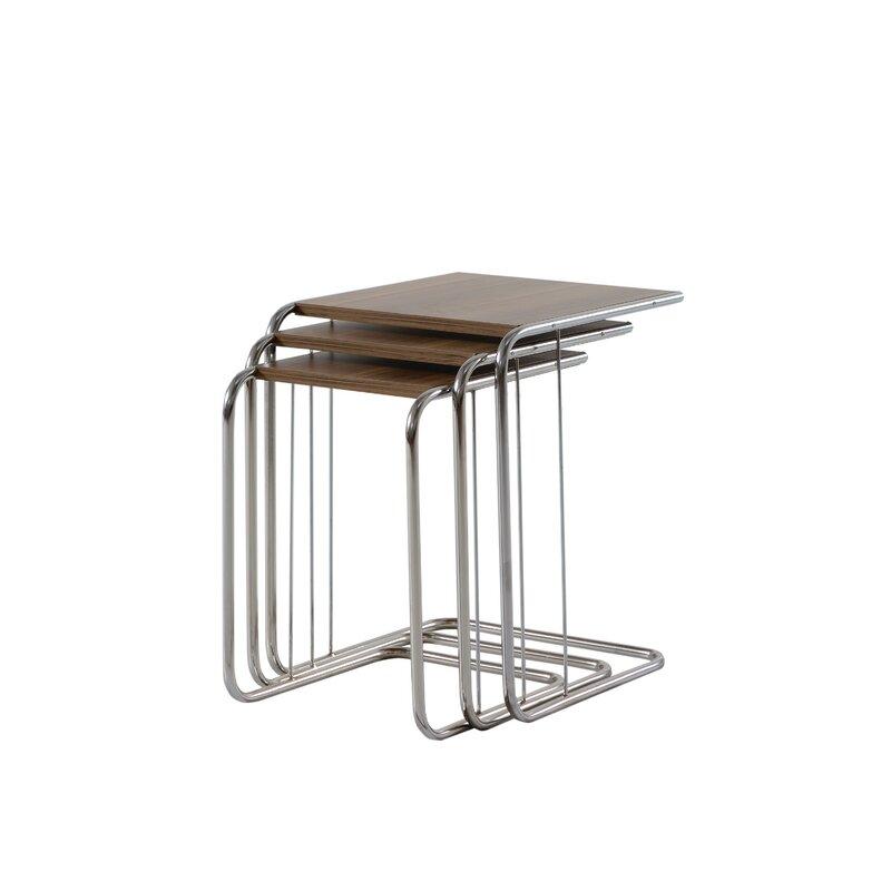 Latitude Run Ryland Metal 3 Piece Nesting Table