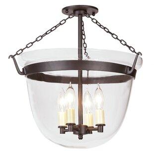 Shreya Large Bell 4-Light Urn Pendant by Alcott Hill