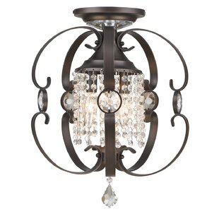 Hardouin 3-Light Semi Flush Mount by Willa Arlo Interiors