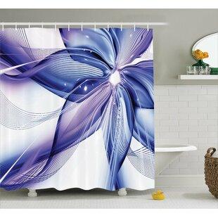 Aaliyah Geometric Flowers Shower Curtain