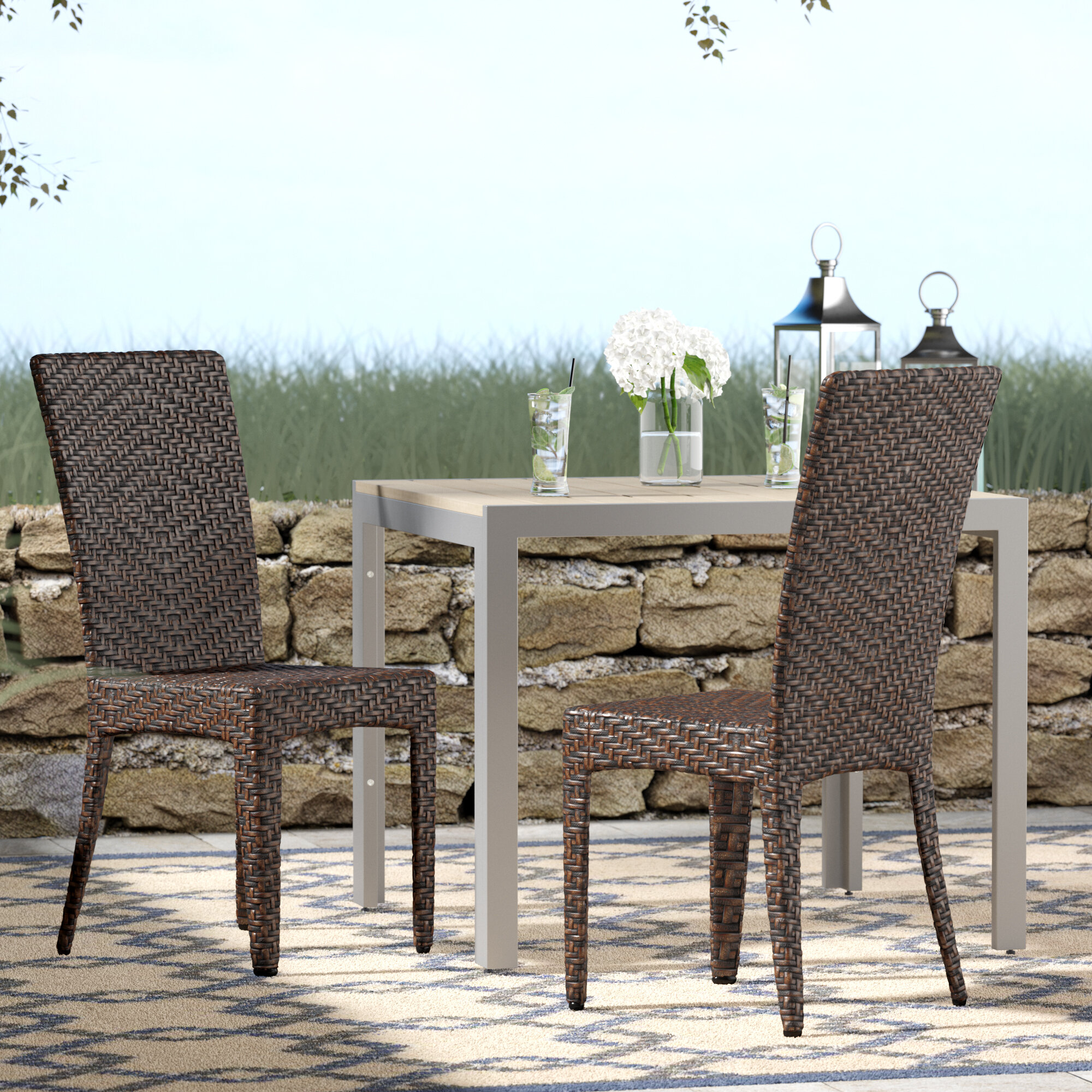 Beachcrest Home Tanja Patio Dining Chair & Reviews