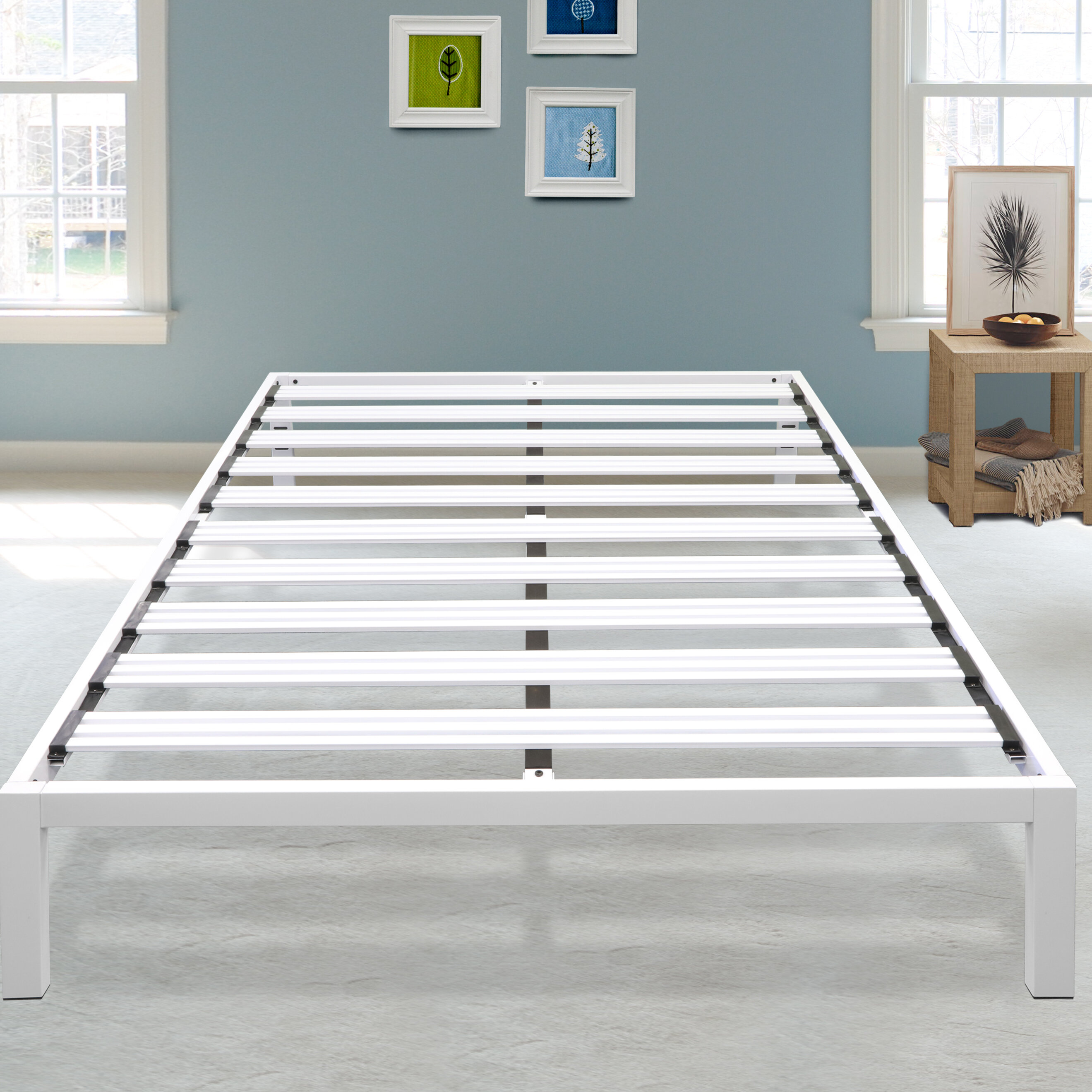 Picture of: Virgilina 14 Steel Platform Bed Frame Reviews Joss Main