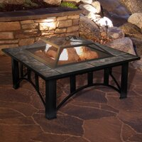 Deals on Millwood Pines Jackqueline Steel Wood Burning Fire Pit Table