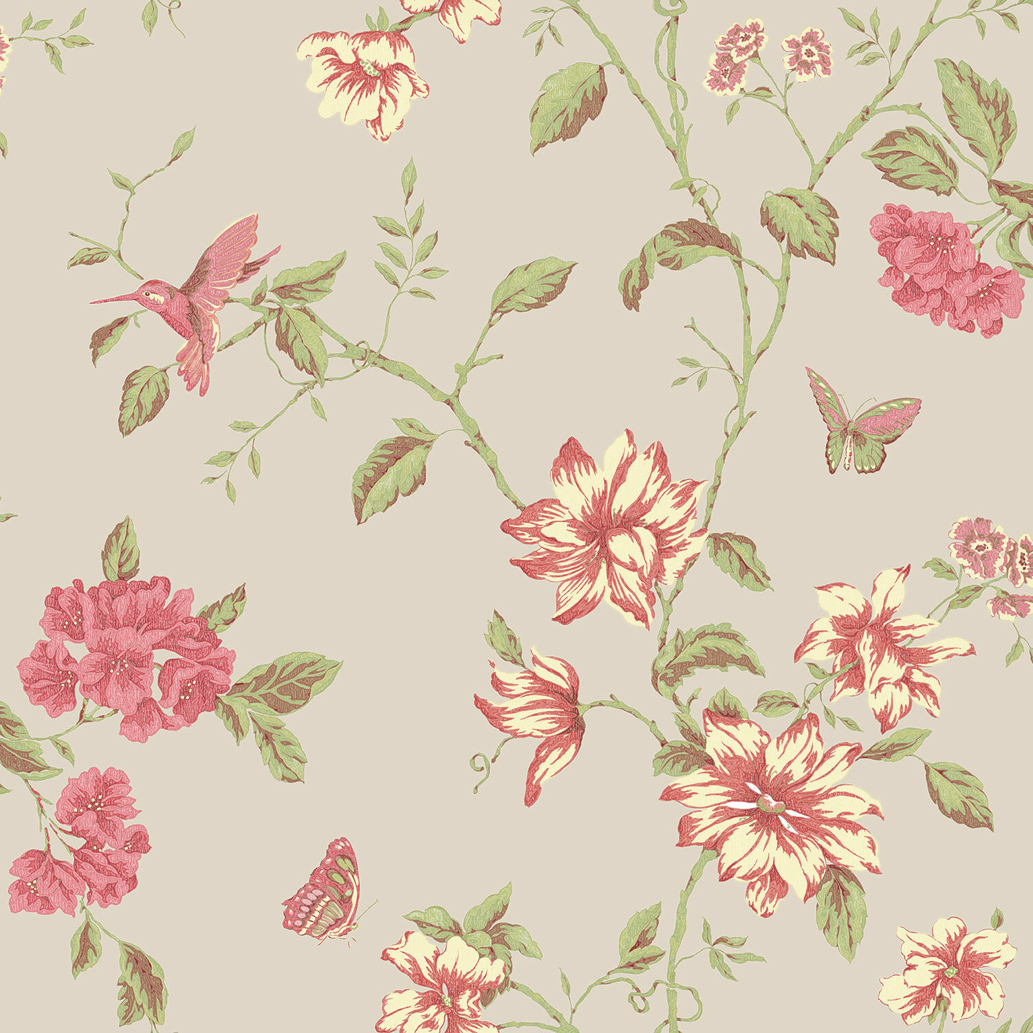 Lily Manor English Florals On Coloured Ground 10m L X 53cm W