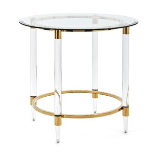 Nakasa Dessanto Acrylic and Stainless Steel Accent End Table