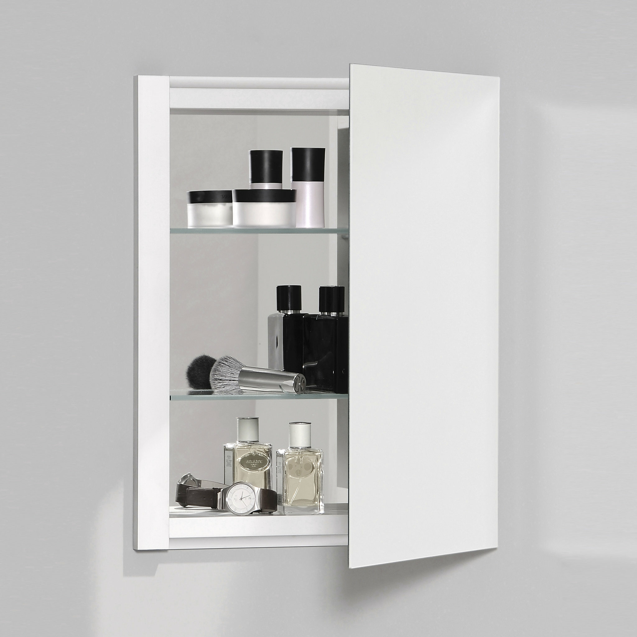 Robern R3 Series Recessed Or Surface Mount Frameless Medicine Cabinet With 3 Adjustable Shelves Reviews Wayfair