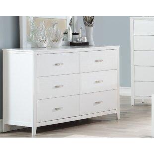 Winston Porter Viva 6 Drawer Double Dresser