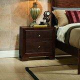 2 - Drawer Solid Wood Nightstand in Dark Brown by InRoom Designs