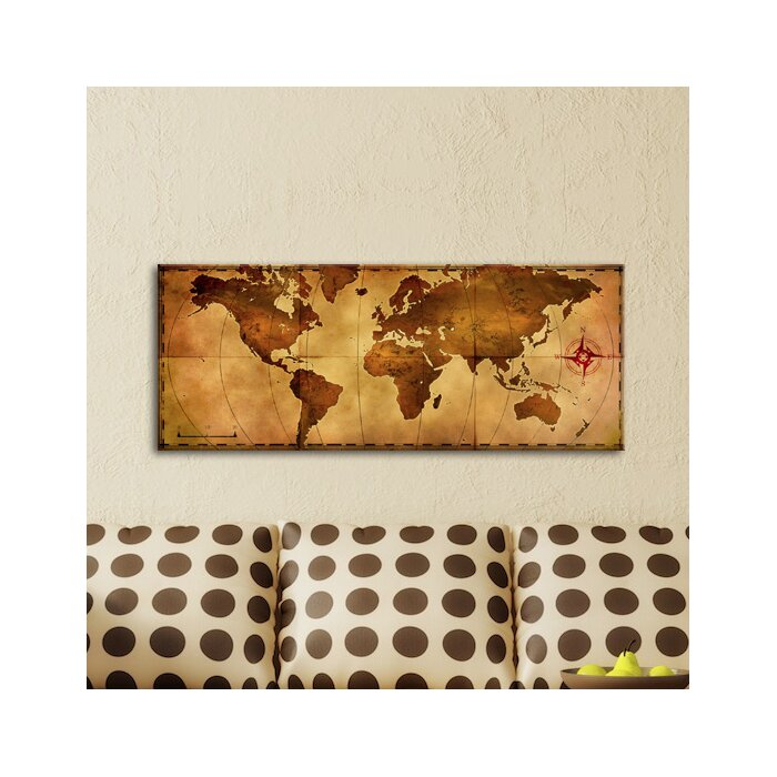 17 stories old world map graphic art plaque reviews wayfair old world map graphic art plaque gumiabroncs Images