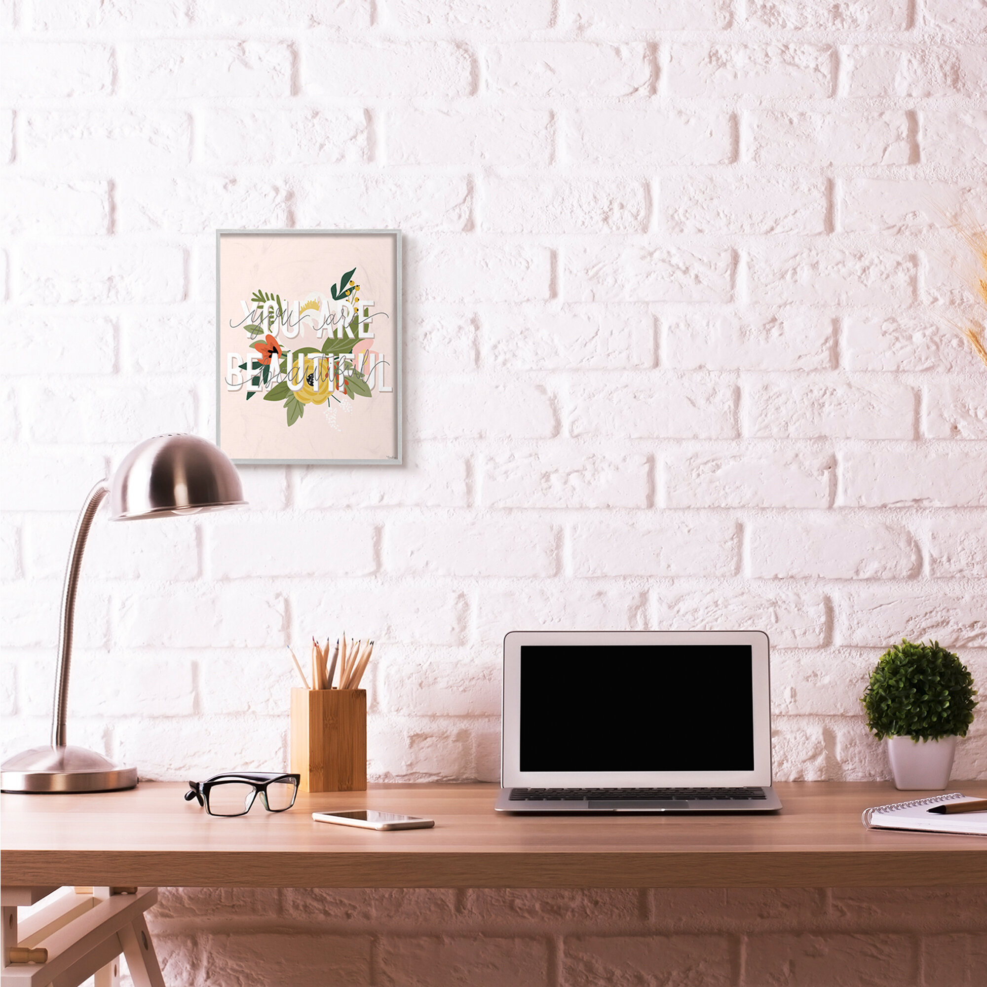 Design by Artist Amanda Greenwood Stupell Industries Rainbow Champagne Black Framed Wall Art 16 x 20