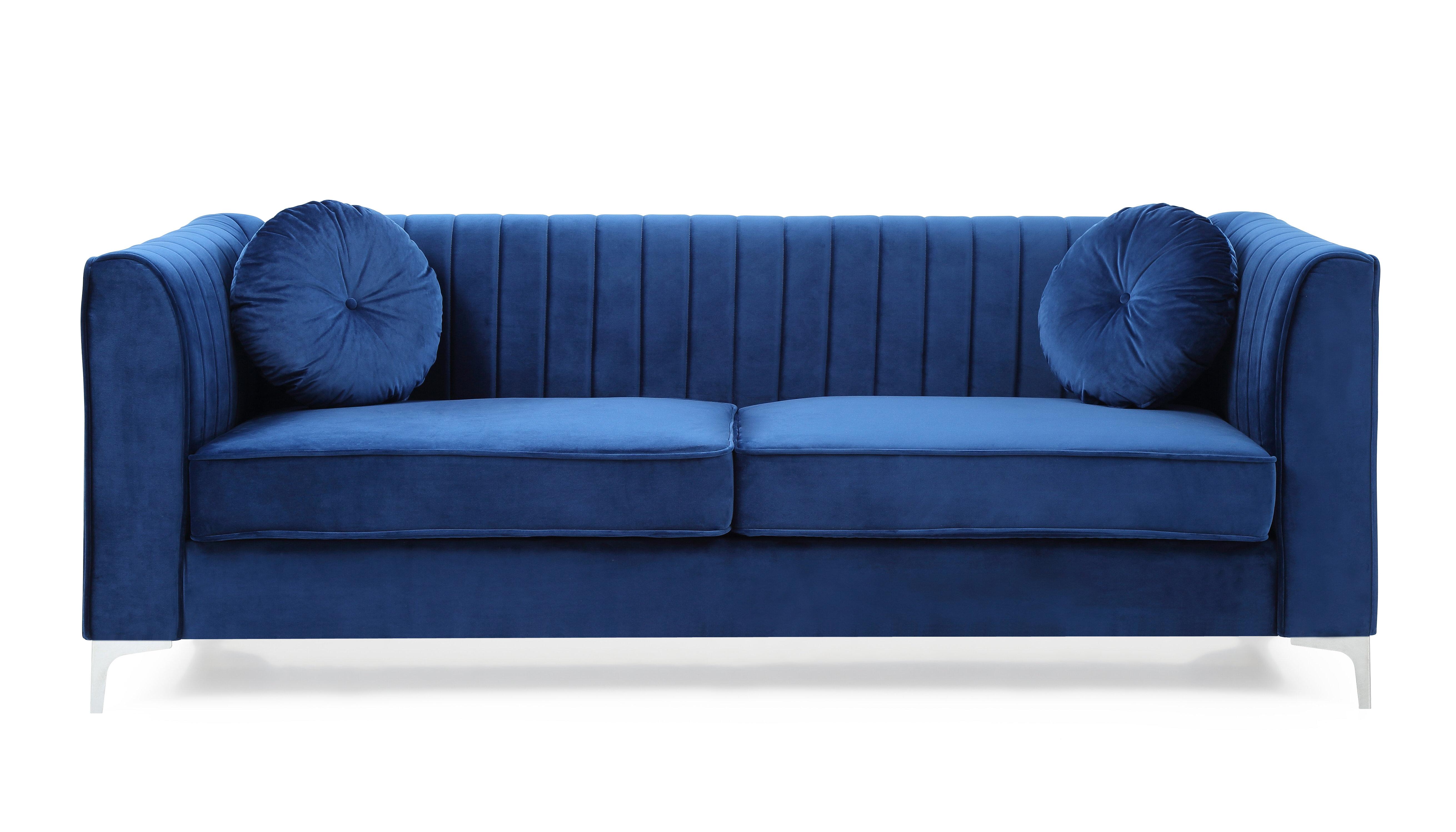 Mercer41 Adhafera 87 Wide Velvet Square Arm Sofa Reviews Wayfair