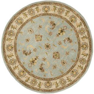 Cranmore Handmade Wool Light Blue/Beige Area Rug by Charlton Home