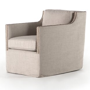Puentes Swivel Armchair by Gracie Oaks