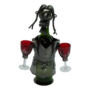 Lady Waitress 1 Bottle Tabletop Wine Rack..