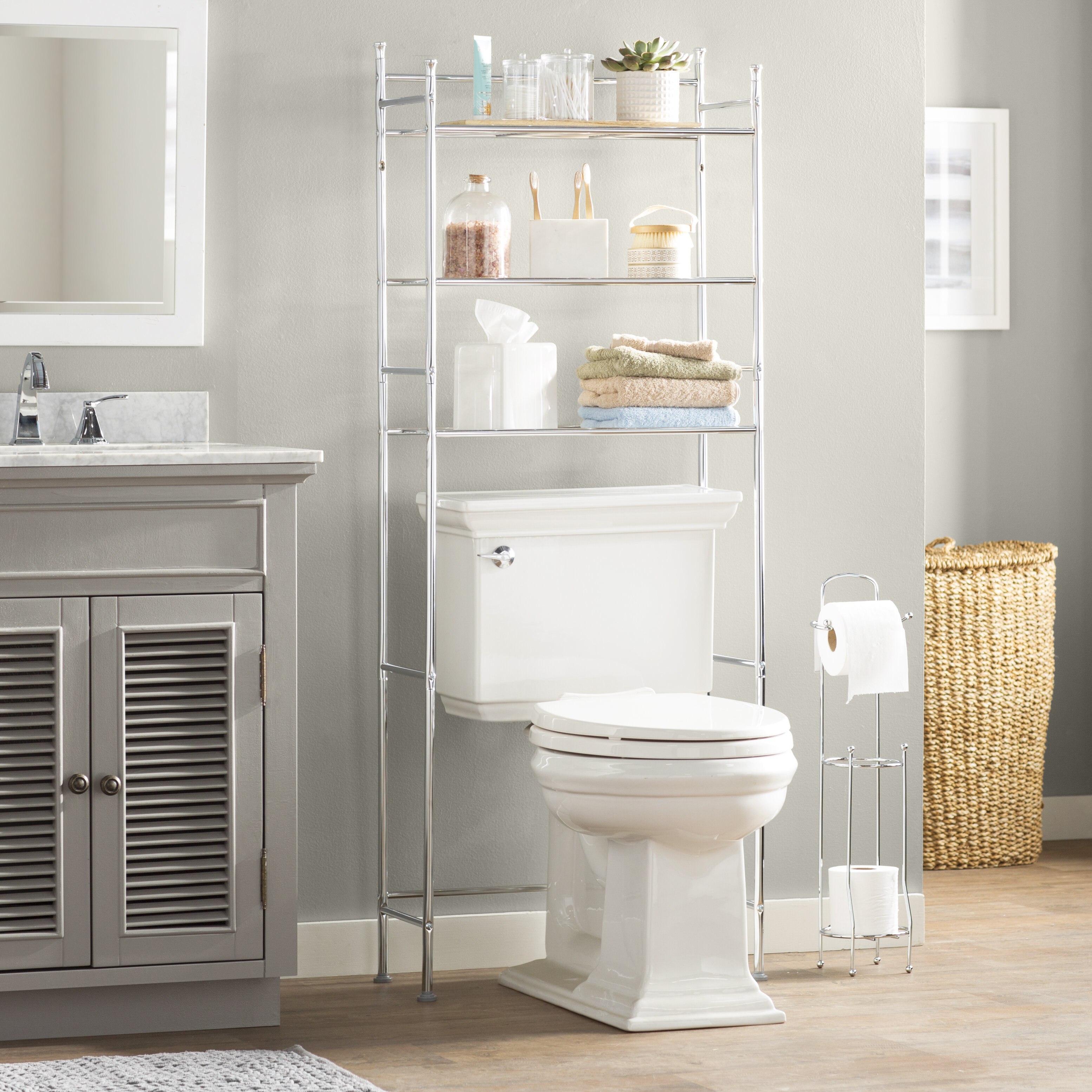 Over the Toilet Storage Cabinets | Bathroom Etagere ...