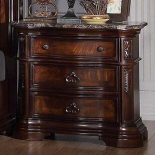 Astoria Grand Fletcher 3 Drawer Nightstand