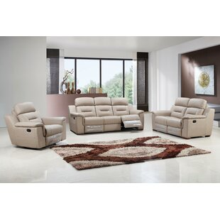 Kreger Air Reclining 3 Piece Leather Living Room (Set of 3) by Latitude Run
