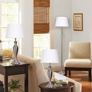 Catalina Lighting 3 Piece Table and Floor Lamp Set