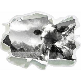 Cow In The Karwendel Mountains Wall Sticker By East Urban Home