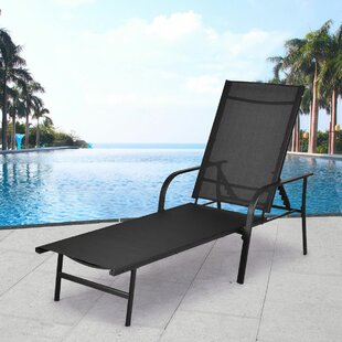 Lolotoe Pool Adjustable Back Reclining Chaise Lounge by Ebern Designs