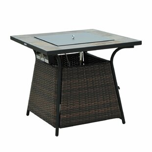 Outsunny Propane Gas Fire Pit Table
