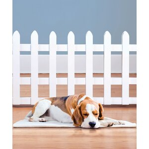 Wood Picket Freestanding Pet Gate