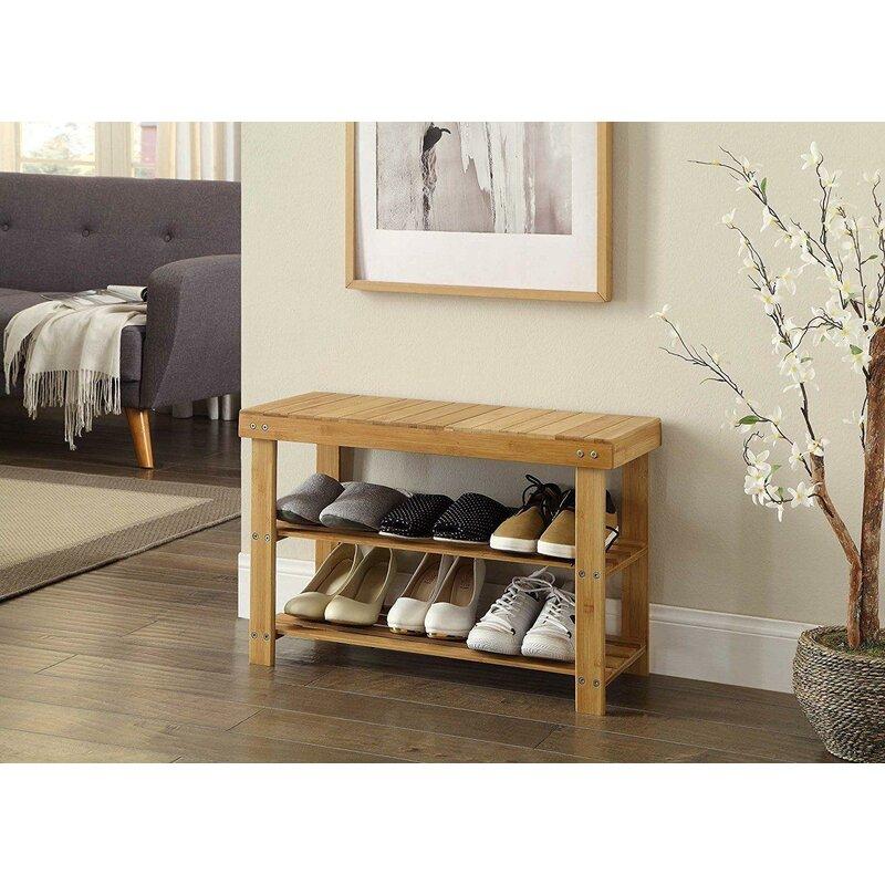 Red Barrel Studio 6 Pair Shoe Storage Bench Reviews Wayfair