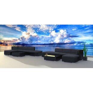 Brayden Studio Dana 12 Piece Sectional Set with Cushions