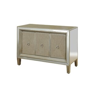 Monsour Mirrored 3 Door Accent Cabinet