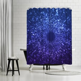 East Urban Home Lebens Art Blue Outer Space Shower Curtain