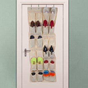Find for 24-Pocket 12 Pair Overdoor Shoe Organizer ByLavish Home
