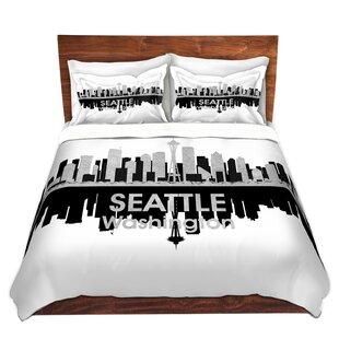 East Urban Home City IV Seattle Washington Duvet Set