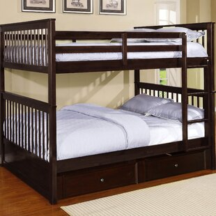 Vicky Full Over Full Bunk Bed with Trundle by Harriet Bee