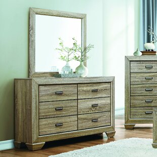 Henry 6 Drawer Double Dresser with Mirror