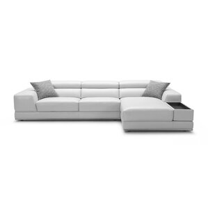sc 1 st  AllModern : white sectional leather sofa modern - Sectionals, Sofas & Couches