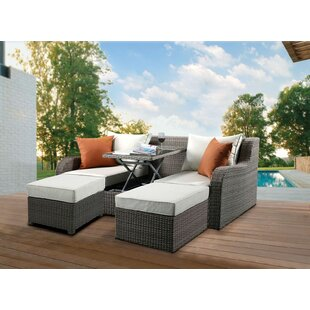 Platt Patio Sofa with Cushions by Gracie Oaks