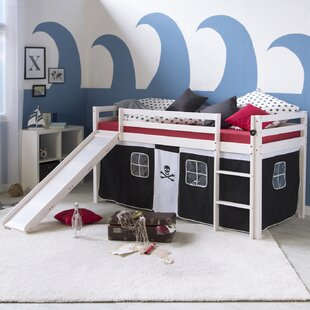 Alissa European Single Mid Sleeper Bed With Curtain By Zoomie Kids