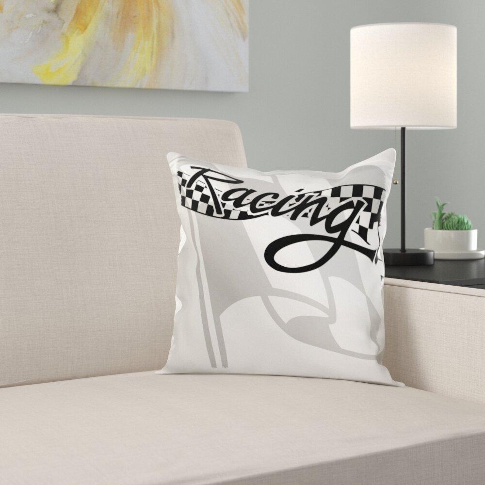 Trinx Racing Checkered Flag Pillow Cover Wayfair