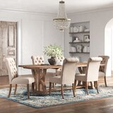 Brie Trestle 7 - Piece Solid Wood Dining Set by Kelly Clarkson Home