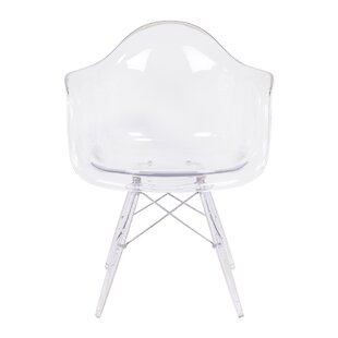 Modern Style Arm Chair with Transparent Clear Legs by Nicer Interior