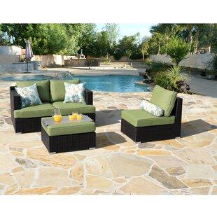 Talmage Sofa Patio Sectional with Sunbrella Cushions