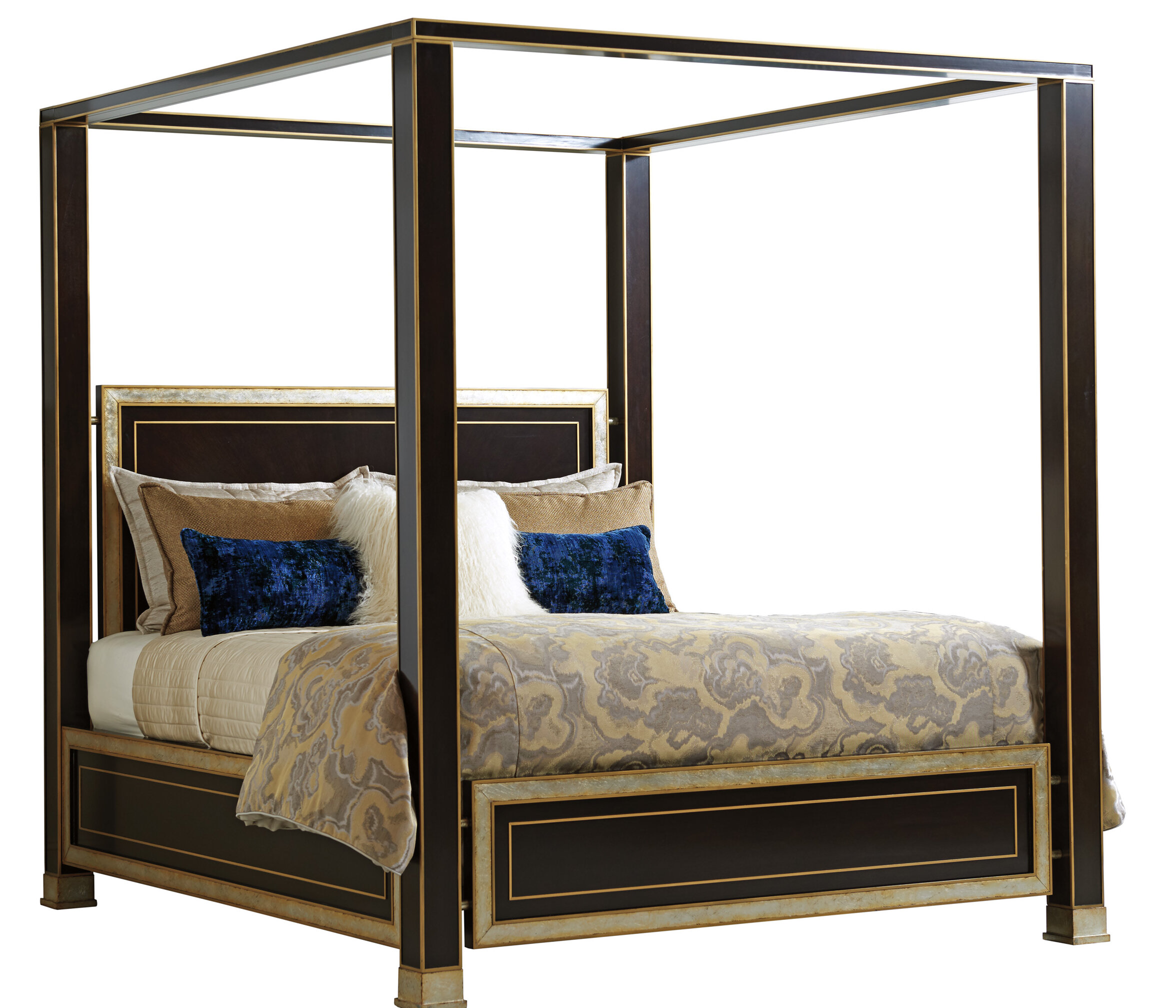 Picture of: Lexington Carlyle Solid Wood Low Profile Standard Canopy Bed