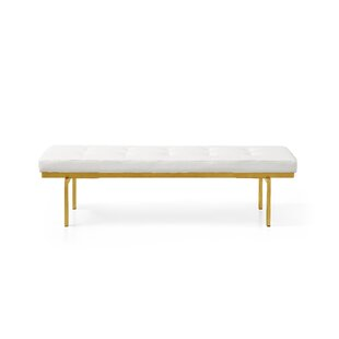 Everly Quinn Lawncrest Upholstered Bench