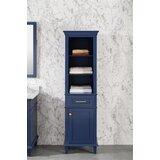 Ogilvie 21 W x 72 H x 17 D Free-Standing Linen Cabinet by Breakwater Bay