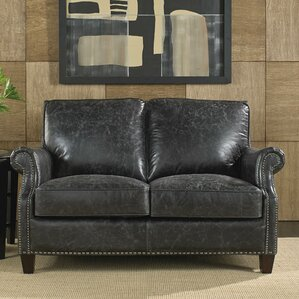 Nathan Leather Loveseat by Lazzaro Leather