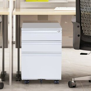 Jablonski 3 Drawer Vertical Filing Cabinet by Symple Stuff Sale