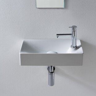 Look for Soft Ceramic 18 Wall Mount Bathroom Sink ByScarabeo by Nameeks