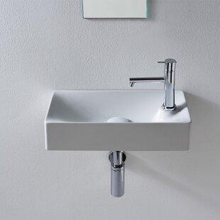 Soft Ceramic 18 Wall Mount Bathroom Sink ByScarabeo by Nameeks