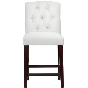 Cyrus Tufted Bar Stool by Darby Home Co