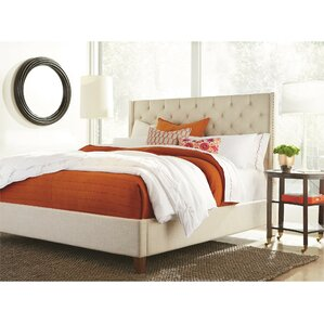 Paula King Upholstered Panel Bed by Darby Home Co